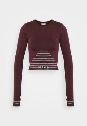 SEAMLESS LONG SLEEVE - Long sleeved top - burgundy
