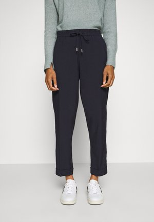 PANTS SMART JOGGING STYLE STRAIGHT LEG TURN UP - Trousers - dark night