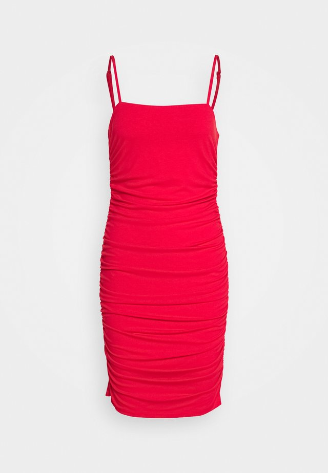 PAMELA REIF X NA-KD THIN STRAP DRESS - Cocktailklänning - red