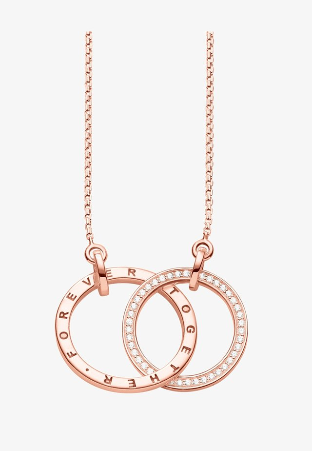 FOREVER TOGETHER MITTEL  - Necklace - rosegold-coloured/white
