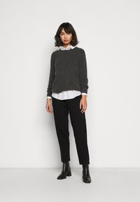 Missguided Petite - RIOT MOM - Jeans a sigaretta - black - 1