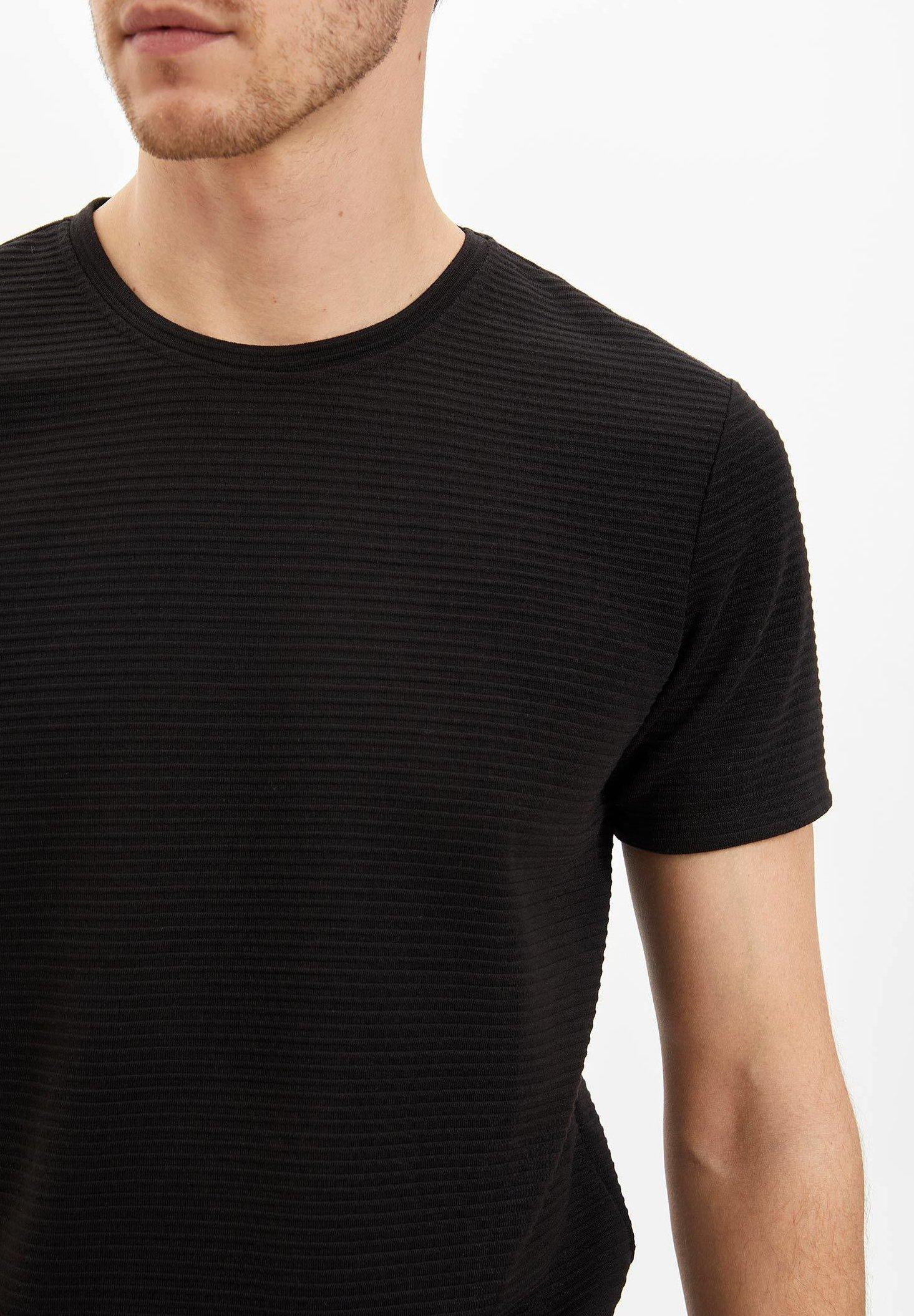 DeFacto Basic T-shirt - black 8qG8C