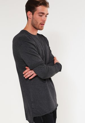 TERRY  - Long sleeved top - charcoal