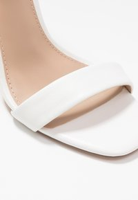 Steve Madden - REEVES - High heeled sandals - white - 2