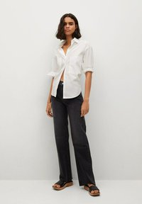 Mango - Flared Jeans - black denim - 1