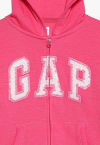 GAP - GIRLS ACTIVE LOGO - Hoodie met rits - pink jubilee - 4
