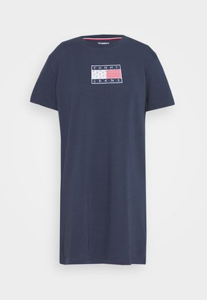 LOGO TEE DRESS - Sports dress - twilight navy
