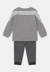adidas Performance - SET UNISEX - Chándal - medium grey heather/black melange/white - 1