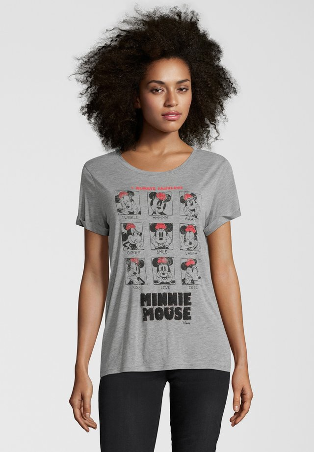 MINNIE FACES - T-shirt print - grau