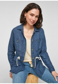 s.Oliver - Denim jacket - mottled dark blue - 1