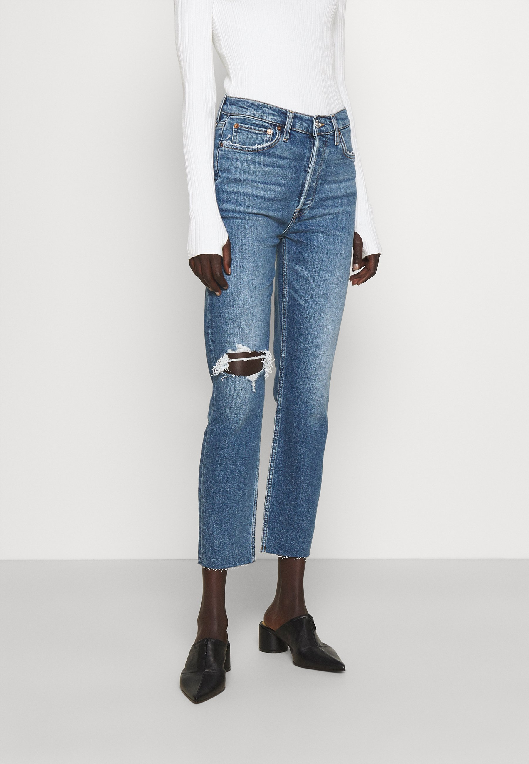 Women HIGH RISE ANKLE CROP - Jeans Tapered Fit