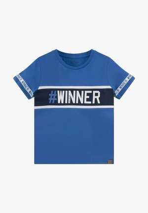 MIT UND STRUKTURMIX - Print T-shirt - blue