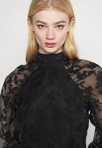 Gina Tricot - YLVA BLOUSE - Long sleeved top - black - 3
