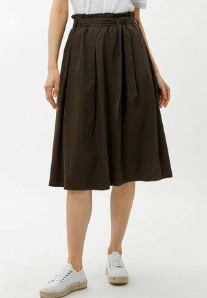 STYLE KLARA - A-snit nederdel/ A-formede nederdele - coffee