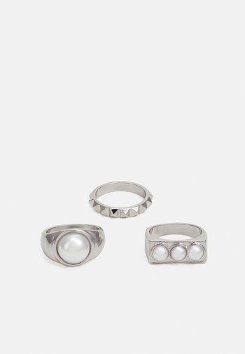 SET - Ringar - silver-coloured