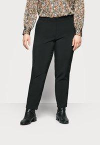 ONLY Carmakoma - CARVILDAS CIGARETTE PANT - Trousers - black - 0