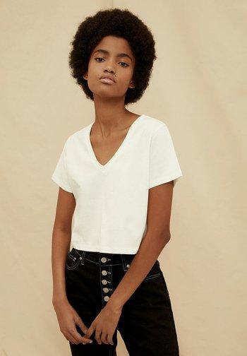Basic T-shirt - cream