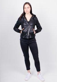 Freaky Nation - GLANCE UP-FN - Leather jacket - black - 1
