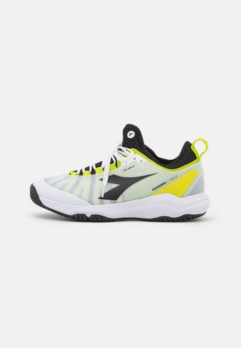 SPEED BLUSHIELD FLY 3 + AG - Tenisové boty na všechny povrchy - white/black/lime green