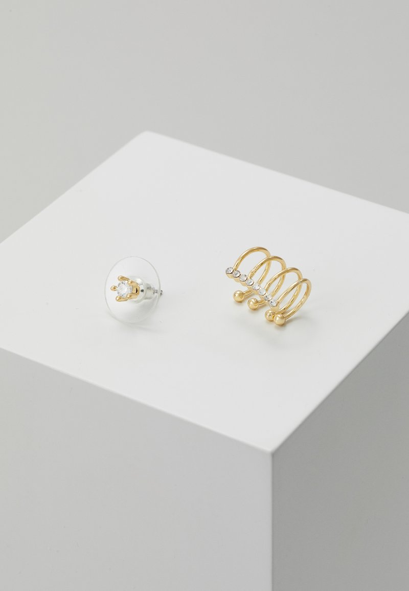 SNÖ of Sweden - MINNA FUNKY FLOWER EAR CLEAR SET - Náušnice - gold-coloured/clear