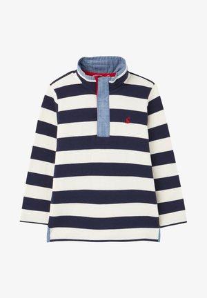 Sweatshirt - marineblau cremefarben streifen