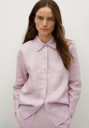 Button-down blouse - morado claro/pastel