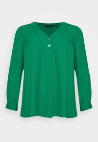 Dorothy Perkins Curve - CURVE PLAIN ROLL SLEEVE  - Long sleeved top - green - 5