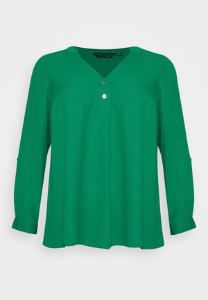 CURVE PLAIN ROLL SLEEVE  - Long sleeved top - green