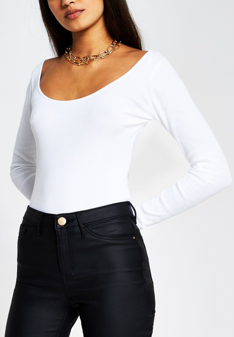 River Island - Long sleeved top - white