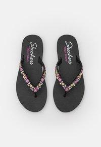 Skechers - MEDITATION - T-bar sandals - black/multicolor - 5