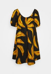 Farm Rio - RIPE BANANAS MINI DRESS - Day dress - black - 0