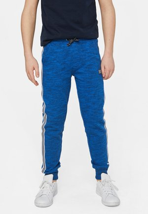 WE FASHION JONGENS JOGGINGBROEK MET TAPEDETAIL - Tracksuit bottoms - blue