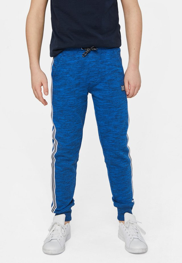 WE FASHION JONGENS JOGGINGBROEK MET TAPEDETAIL - Trainingsbroek - blue