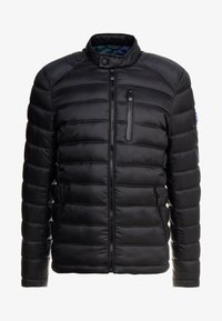 Superdry - COMMUTER QUILTED BIKER - Light jacket - jet black - 5