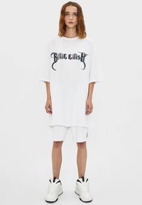 Bershka - BILLIE EILISH - Long sleeved top - white - 1