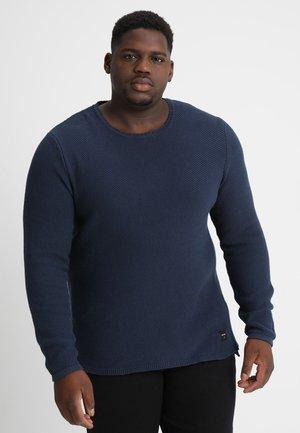 DAN STRUCTURE CREW - Jumper - dress blue