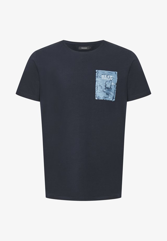 MAJERMANE  - T-shirt con stampa - dark navy