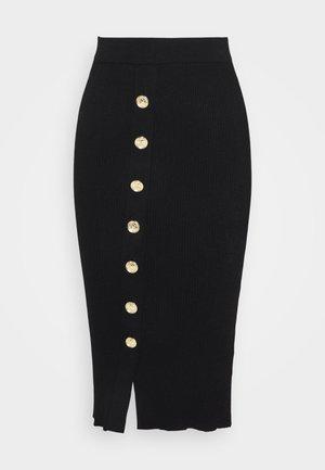 PATTINAGGIO GONNA - Pencil skirt - black
