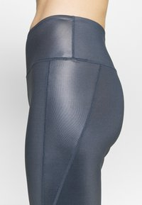 South Beach - HIGH WAIST WETLOOK LEGGIGNS - Medias - ombre blue - 4