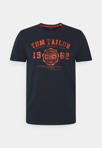 LOGO TEE - Print T-shirt - dark blue