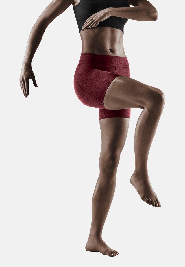 Leggings - cardio cherry melange