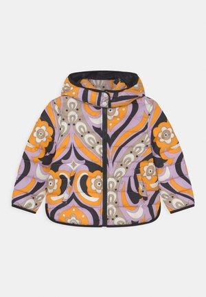 SHORT - Down jacket - giallo/lilla
