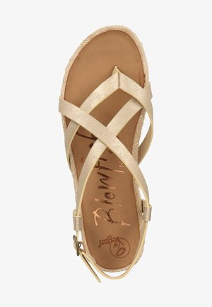 VEGAN GRANOLA - T-bar sandals - karat gold 324