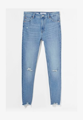 LOW WAIST PUSH UP - Jeans Skinny Fit - blue denim