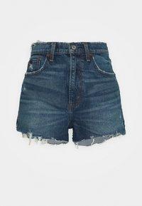Abercrombie & Fitch - MOM CHEWY - Denim shorts - dark-blue denim - 0