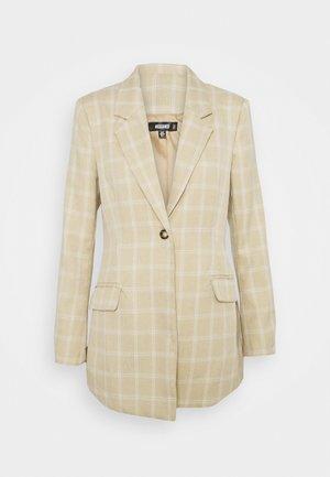 CHECK - Pitkä takki - beige