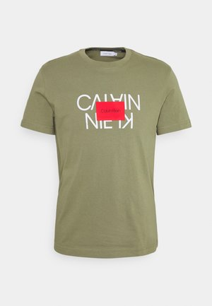 TEXT REVERSED LOGO  - T-shirt print - green