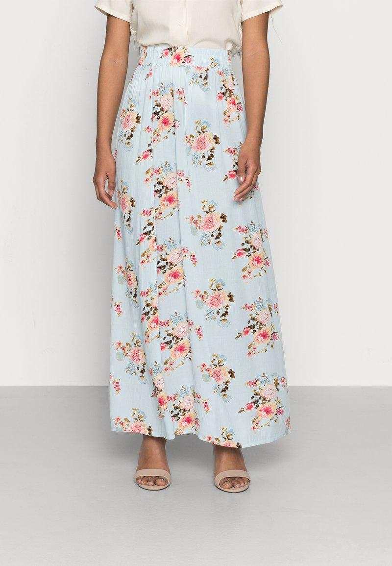 VILA PETITE - VIMESA MAXI SKIRT - Maxi skirt - cashmere blue