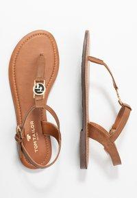 TOM TAILOR - T-bar sandals - cognac - 3