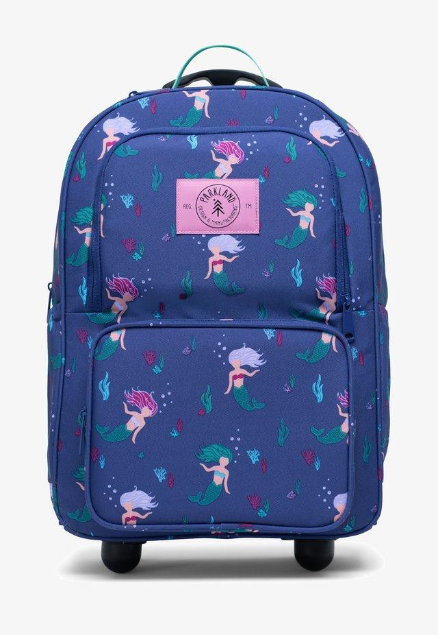 Wheeled suitcase - dark blue